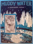 Muddy Water Sheet Music 1928 Nora Bayes