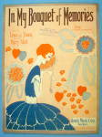 In My Bouquet Of Memories Sheet Music 1928 Young/akst