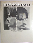 Sheet Music For 1970 Fire And Rain