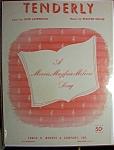 Sheet Music For 1946 Tenderly By Walter Gross