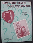 Sheet Music For 1943 How Many Hearts Have You Broken