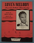 Sheet Music For 1941 Love's Melody