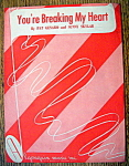 Sheet Music For 1948 You're Breaking My Heart