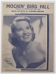 Sheet Music For 1949 Mockin' Bird Hill-patti Page Cover