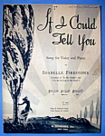 Sheet Music Of 1942 If I Could Tell You