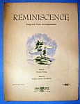 Sheet Music Of 1941 Reminiscence