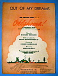 Sheet Music Of 1943 Out Of My Dreams