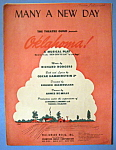 Sheet Music Of 1943 Many A New Day