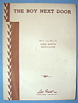 Sheet Music Of 1944 The Boy Next Door