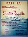 Sheet Music For 1949 Bali Ha'i