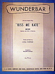 Sheet Music For 1951 Wunderbar