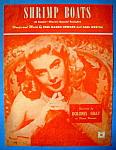 Sheet Music For 1951 Shrimp Boats