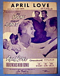 Sheet Music For 1957 April Love