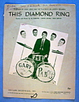 Sheet Music For 1965 This Diamond Ring