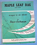 Sheet Music For 1961 Maple Leaf Rag