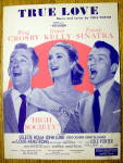 Sheet Music For 1956 True Love With Crosby & Sinatra