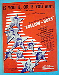 Sheet Music For 1944 Is You Is, Or Is You Ain't