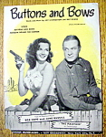 Sheet Music For 1948 Buttons And Bows (Hope & Russell)