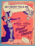 Sheet Music For 1943 My Heart Tells Me (Sweet Rosie)