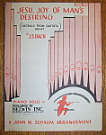 Sheet Music For 1951 Jesu, Joy Of Man's Desiring
