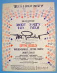 This Is A Great Country Sheet Music 1962 Irving Berlin