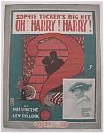 Sheet Music For 1918 Sophie Tucker's Big Hit