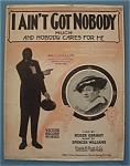 Sheet Music For 1916 I Ain't Got Nobody