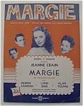 Sheet Music For 1920 Margie