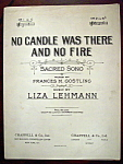 Sheet Music Of 1909 No Candle Was There And No Fire