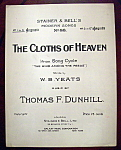 Sheet Music Of 1911 The Cloths Of Heaven