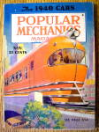 Popular Mechanics Magazine-november 1939-1940 Cars