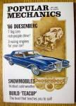 Popular Mechanics January 1966 Snowmobiles