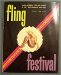 Fling Festival Magazine-1960 Winter Edition-harem Girls