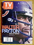 Tv Guide November 20-26, 1999 Walter Payton