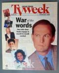 Tv Week October 8-14, 1995 War Of Words