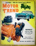 Motor Trend Magazine January 1955 Chevrolet
