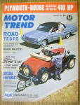 Motor Trend Magazine August 1962 Dune Buggies