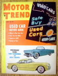 Motor Trend Magazine June 1954 Used Car Buyers Guide