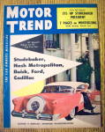 Motor Trend Magazine November 1954 Winterizing