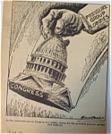 Political Cartoon - March 25, 1946 Congress/lobbyists