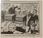Political Cartoon - February 4, 1946 Filibuster