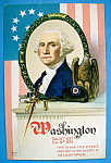 George Washington Postcard-first In War First In Peace