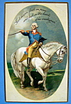 George Washington On A White Horse Postcard