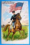 Soldier Bold & Brave Postcard