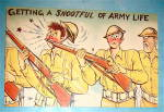 Soldier Getting Hit In Nose By Gun Postcard