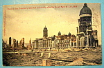 Ruins Of San Francisco's City Hall Postcard