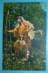 Returning From The Hunt Postcard-indian & Bow And Arrow
