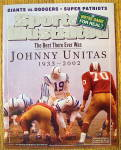 Sport Illustrated Magazine September 23, 2002 J Unitas