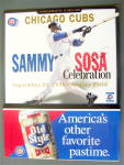 Chicago Cubs Score Card 1998 Sammy Sosa