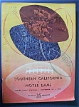 Notre Dame Vs Southern California Program-nov. 29, 1952